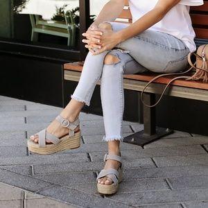 Halogen 'Emery' platform espadrille sandal